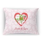 Valentine Owls Rectangular Throw Pillow (Personalized)