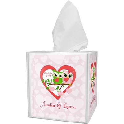 Valentine Owls Tissue Box Cover (Personalized)