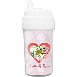 Valentine Owls Toddler Sippy Cup (Personalized)