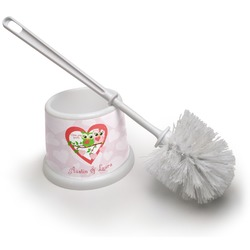 Valentine Owls Toilet Brush (Personalized)