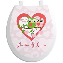 Valentine Owls Toilet Seat Decal (Personalized)