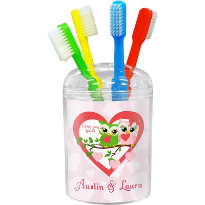 Valentine Owls Toothbrush Holder (Personalized)