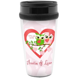 Valentine Owls Travel Mugs (Personalized)