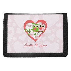 Valentine Owls Trifold Wallet (Personalized)