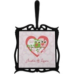 Valentine Owls Trivet with Handle (Personalized)
