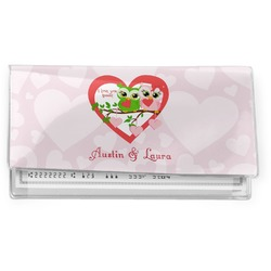 Valentine Owls Vinyl Checkbook Cover (Personalized)