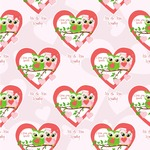 Valentine Owls Wallpaper & Surface Covering