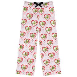 Valentine Owls Womens Pajama Pants (Personalized)