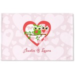 Valentine Owls Woven Mat (Personalized)