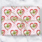 Valentine Owls Wrapping Paper (Personalized)