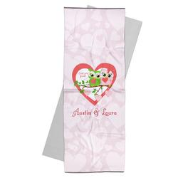 Valentine Owls Yoga Mat Towel (Personalized)