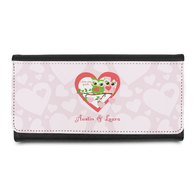 Valentine Owls Leatherette Ladies Wallet (Personalized)