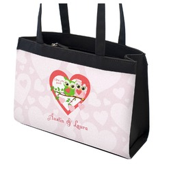 Valentine Owls Zippered Everyday Tote (Personalized)