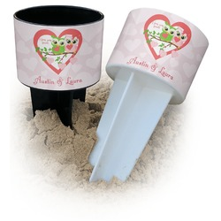 Valentine Owls Beach Spiker Drink Holder (Personalized)