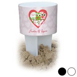 Valentine Owls Beach Spiker Drink Holder (Personalized)