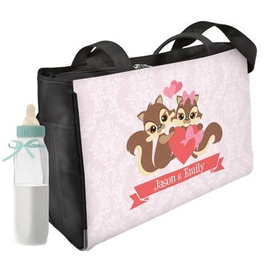 Chipmunk Couple Diaper Bag w/ Couple's Names