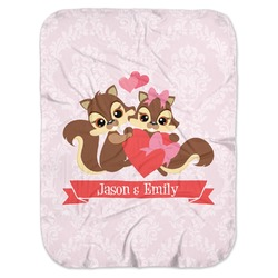 Chipmunk Couple Baby Swaddling Blanket (Personalized)