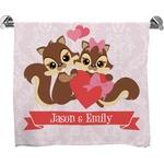 Chipmunk Couple Full Print Bath Towel (Personalized)