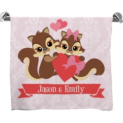 Chipmunk Couple Full Print Bath Towel (Personalized)