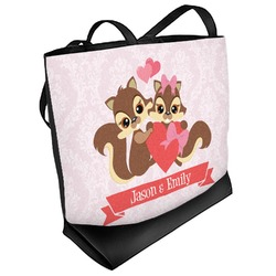 Chipmunk Couple Beach Tote Bag (Personalized)