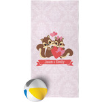Chipmunk Couple Beach Towel (Personalized)