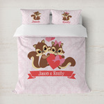 Chipmunk Couple Duvet Cover (Personalized)