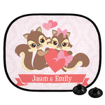 Chipmunk Couple Car Side Window Sun Shade (Personalized)