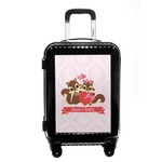 Chipmunk Couple Carry On Hard Shell Suitcase (Personalized)