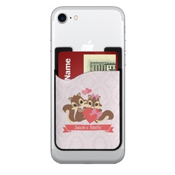 Chipmunk Couple 2-in-1 Cell Phone Credit Card Holder & Screen Cleaner (Personalized)