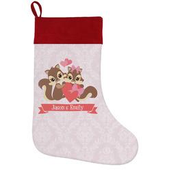 Chipmunk Couple Holiday / Christmas Stocking (Personalized)