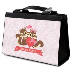 Chipmunk Couple Classic Tote Purse w/ Leather Trim (Personalized)
