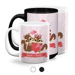 Chipmunk Couple Coffee Mugs (Personalized)