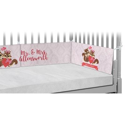 Chipmunk Couple Crib Bumper Pads (Personalized)