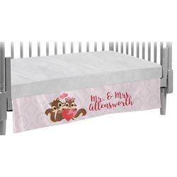Chipmunk Couple Crib Skirt (Personalized)