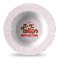 Chipmunk Couple Plastic Bowl - Microwave Safe - Composite Polymer (Personalized)