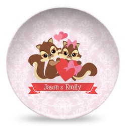 Chipmunk Couple Microwave Safe Plastic Plate - Composite Polymer (Personalized)