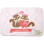 Chipmunk Couple Dish Drying Mat (Personalized)