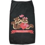 Chipmunk Couple Black Pet Shirt (Personalized)