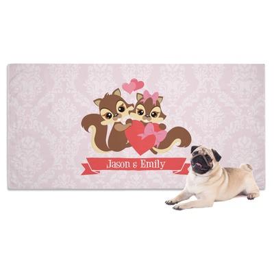 Chipmunk Couple Dog Towel (Personalized)