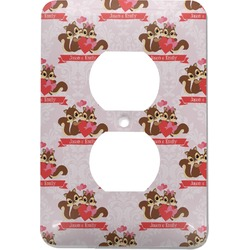 Chipmunk Couple Electric Outlet Plate (Personalized)