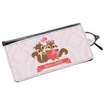 Chipmunk Couple Genuine Leather Eyeglass Case (Personalized)