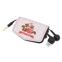 Chipmunk Couple Genuine Leather Cord Wrap (Personalized)