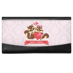 Chipmunk Couple Genuine Leather Ladies Wallet (Personalized)