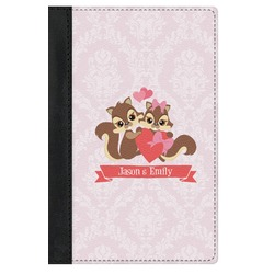 Chipmunk Couple Genuine Leather Passport Cover (Personalized)