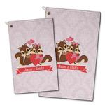 Chipmunk Couple Golf Towel - Full Print w/ Couple's Names