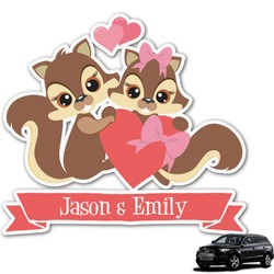 Chipmunk Couple Graphic Car Decal (Personalized)