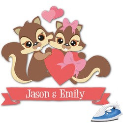 Chipmunk Couple Graphic Iron On Transfer (Personalized)
