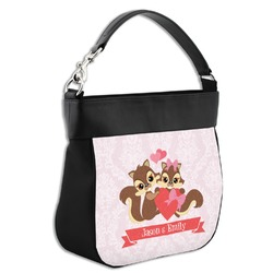 Chipmunk Couple Hobo Purse w/ Genuine Leather Trim (Personalized)