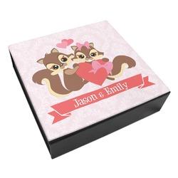 Chipmunk Couple Leatherette Keepsake Box - 3 Sizes (Personalized)