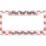 Chipmunk Couple License Plate Frame (Personalized)